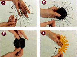 Как сделать поделку «Подсолнух»