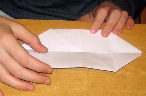 Изготовление оригами поросенка.