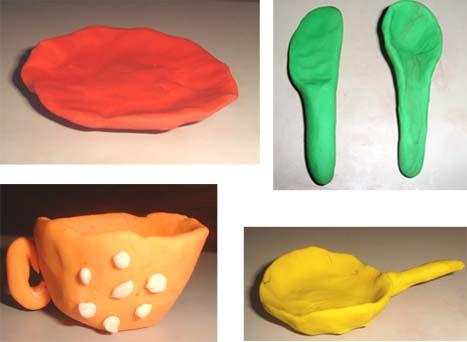 Как из пластилина сделать тарелки для