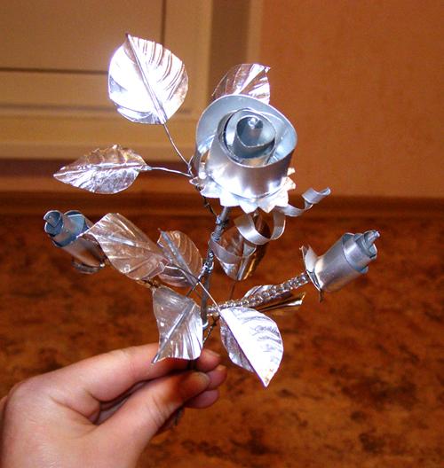 Как сделать розы из фольги