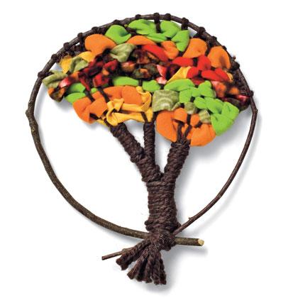 """Нашла идею для поделки к празднику осени - панно  """"Дерево """"."""