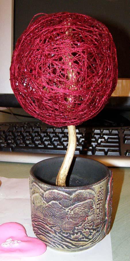 Дерево из фасоли