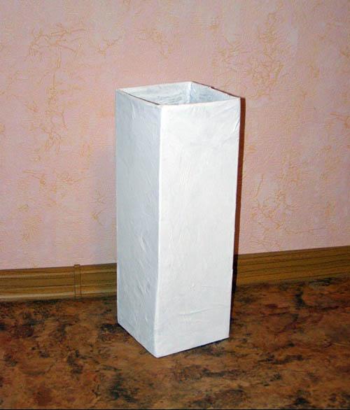 Напольная ваза из коробки своими руками 69