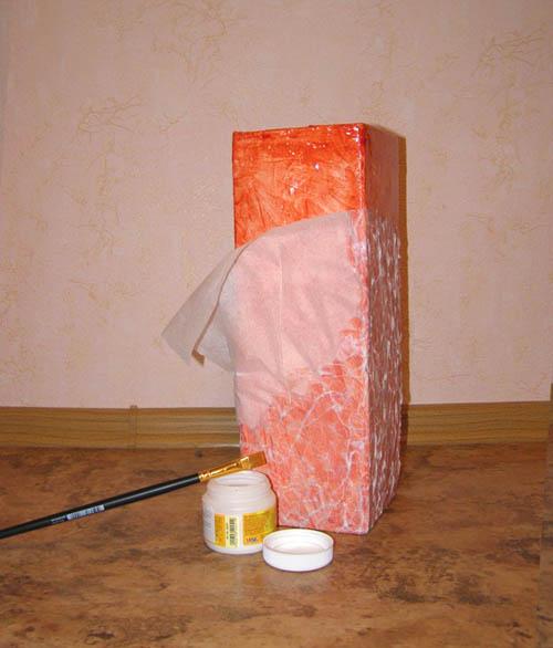 Напольная ваза из коробки своими руками 379