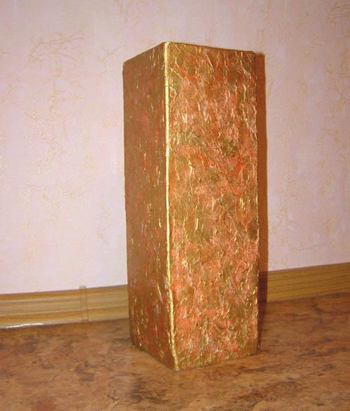 Напольная ваза из коробки своими руками 688